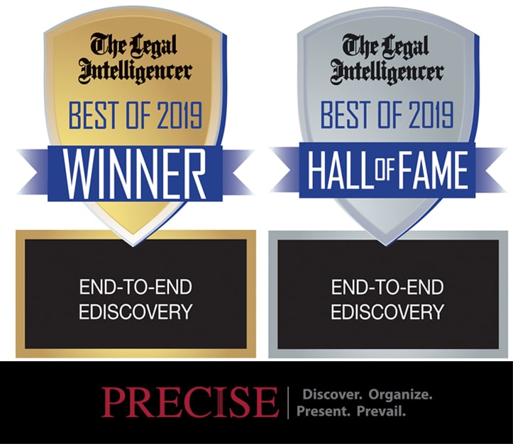Precise Receives Top Rankings from Pennsylvania Legal Community for 10th Consecutive Year