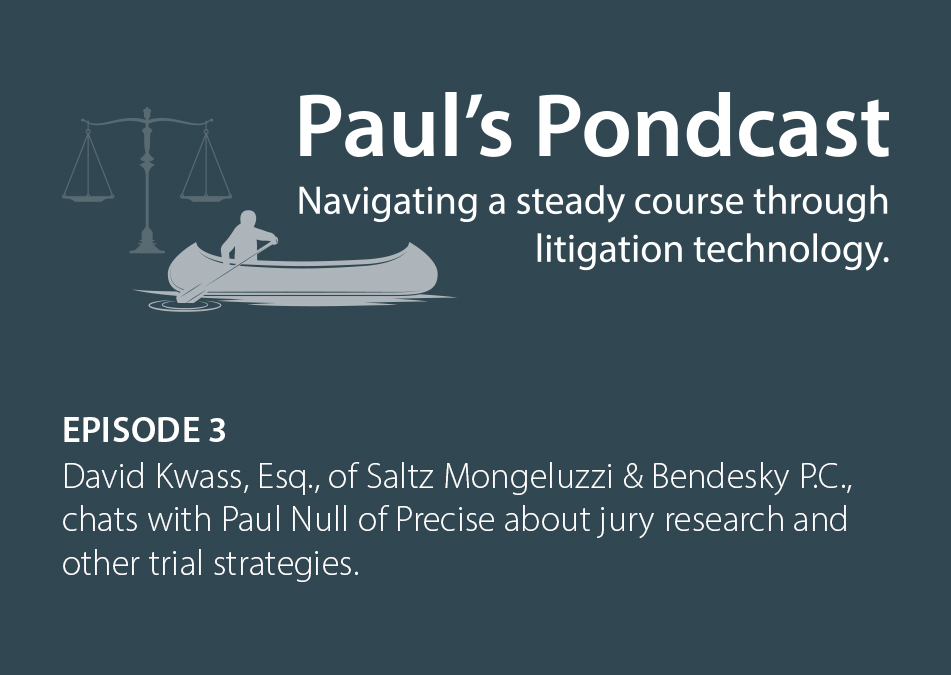 Paul's Pondcast Episode 3 With Guest David Kwass, Esq.